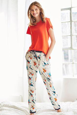 Red Robin Print Pyjamas