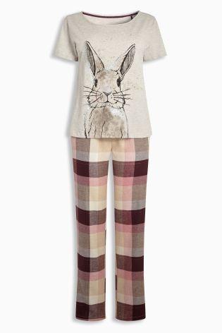 Bunny Berry Check Wrapband Pyjamas