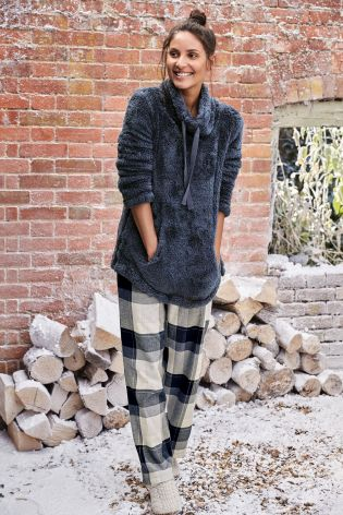 Flannel Check Bottoms