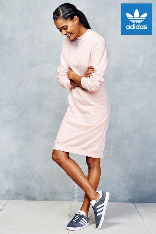 a440d2da7d adidas Originals Pink 3 Stripes Crew Dress