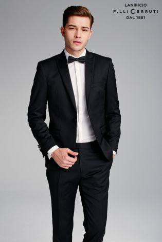 77d815b7972 Black Signature Tuxedo Suit: Tailored Fit Trousers