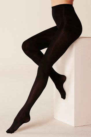 Black Thermal 80 Denier Opaque Tights Two Pack