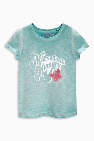 Aqua Mummy Wave Dye T-Shirt (3mths-6yrs)
