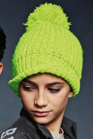 7ab053a5f5e Fluro Reflective Pom Pom Beanie Hat (Older Boys)