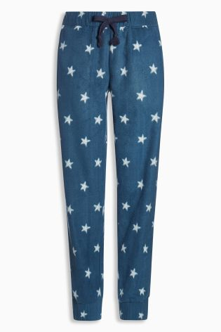 Blue Star Print Fleece Pyjama Bottoms