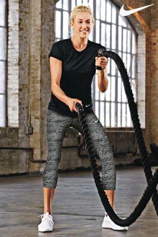 Black Nike Gym Pro Hypercool Short Sleeve T-Shirt