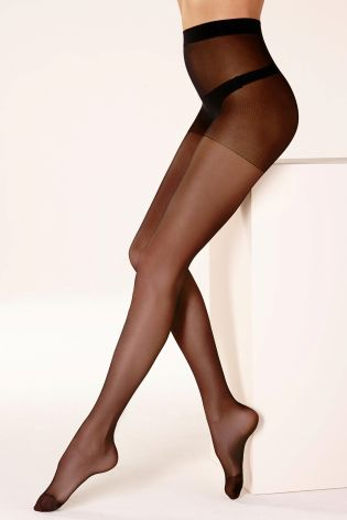 15 Denier Matt Black Sheer Tights Three Pack