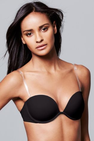 Black Clear Back Multiway Bra