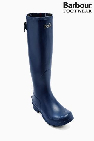 Barbour® Navy Tall Jarrow Wellington Boot