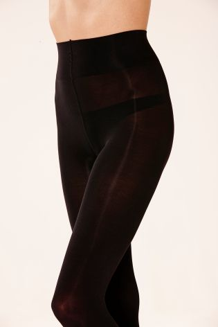 100 Denier Black Ultimate Comfort Tights Two Pack