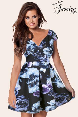 533e860841062 Jessica Wright Paige Skater Dress