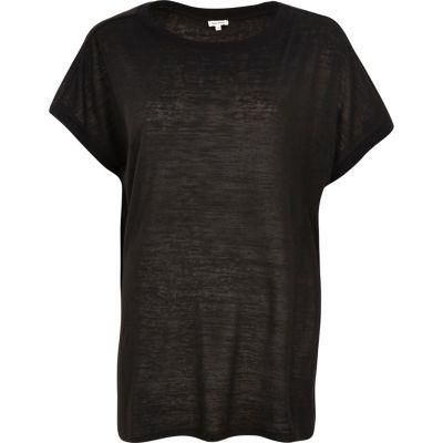 Black square fit t-shirt