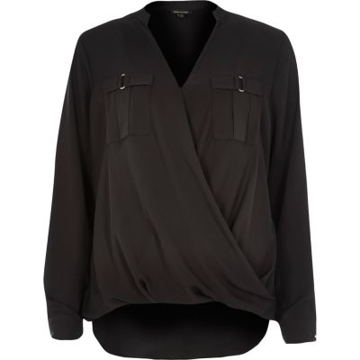 Black military blouse
